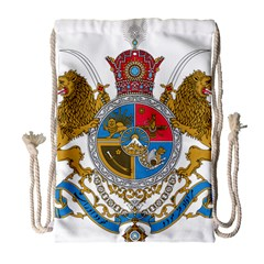 Sovereign Coat Of Arms Of Iran (order Of Pahlavi), 1932 1979 Drawstring Bag (large) by abbeyz71