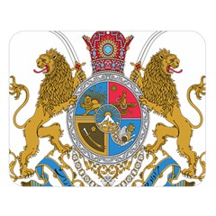 Sovereign Coat Of Arms Of Iran (order Of Pahlavi), 1932 1979 Double Sided Flano Blanket (large)  by abbeyz71