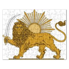 National Emblem Of Iran, Provisional Government Of Iran, 1979 1980 Rectangular Jigsaw Puzzl by abbeyz71