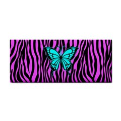 Zebra Stripes Black Pink   Butterfly Turquoise Cosmetic Storage Cases by EDDArt