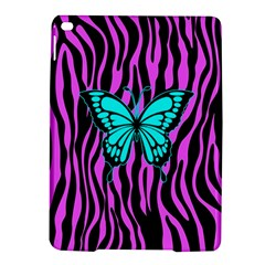 Zebra Stripes Black Pink   Butterfly Turquoise Ipad Air 2 Hardshell Cases by EDDArt