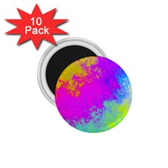 Grunge Radial Gradients Red Yellow Pink Cyan Green 1 75  Magnets (10 Pack)  by EDDArt