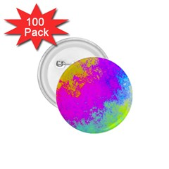 Grunge Radial Gradients Red Yellow Pink Cyan Green 1 75  Buttons (100 Pack)  by EDDArt