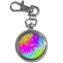 Grunge Radial Gradients Red Yellow Pink Cyan Green Key Chain Watches by EDDArt