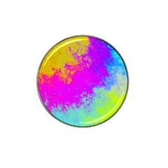 Grunge Radial Gradients Red Yellow Pink Cyan Green Hat Clip Ball Marker (10 Pack) by EDDArt