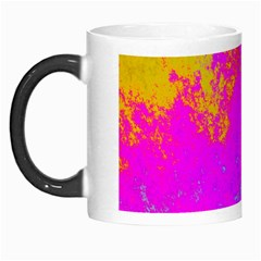 Grunge Radial Gradients Red Yellow Pink Cyan Green Morph Mugs by EDDArt