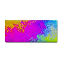 Grunge Radial Gradients Red Yellow Pink Cyan Green Cosmetic Storage Cases by EDDArt