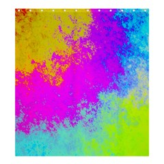 Grunge Radial Gradients Red Yellow Pink Cyan Green Shower Curtain 66  X 72  (large)  by EDDArt