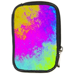 Grunge Radial Gradients Red Yellow Pink Cyan Green Compact Camera Cases by EDDArt
