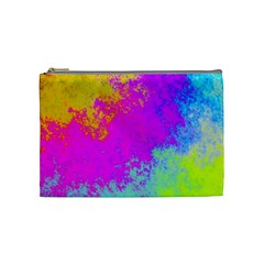Grunge Radial Gradients Red Yellow Pink Cyan Green Cosmetic Bag (medium)  by EDDArt