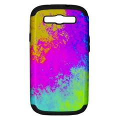 Grunge Radial Gradients Red Yellow Pink Cyan Green Samsung Galaxy S Iii Hardshell Case (pc+silicone) by EDDArt