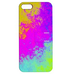 Grunge Radial Gradients Red Yellow Pink Cyan Green Apple Iphone 5 Hardshell Case With Stand by EDDArt