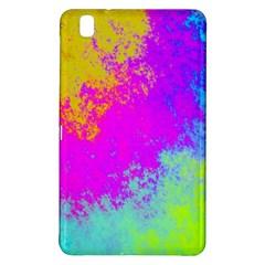 Grunge Radial Gradients Red Yellow Pink Cyan Green Samsung Galaxy Tab Pro 8 4 Hardshell Case by EDDArt