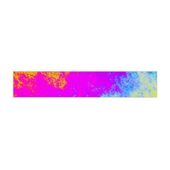 Grunge Radial Gradients Red Yellow Pink Cyan Green Flano Scarf (mini) by EDDArt