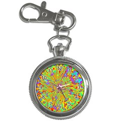 Magic Ripples Flower Power Mandala Neon Colored Key Chain Watches by EDDArt