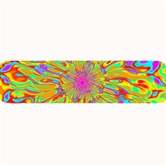 Magic Ripples Flower Power Mandala Neon Colored Large Bar Mats by EDDArt