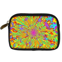 Magic Ripples Flower Power Mandala Neon Colored Digital Camera Cases by EDDArt