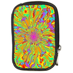 Magic Ripples Flower Power Mandala Neon Colored Compact Camera Cases by EDDArt