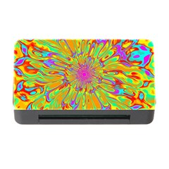 Magic Ripples Flower Power Mandala Neon Colored Memory Card Reader With Cf by EDDArt