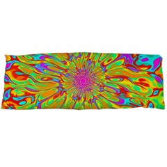 Magic Ripples Flower Power Mandala Neon Colored Body Pillow Case (dakimakura) by EDDArt
