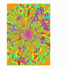 Magic Ripples Flower Power Mandala Neon Colored Large Garden Flag (two Sides) by EDDArt