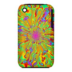 Magic Ripples Flower Power Mandala Neon Colored Iphone 3s/3gs by EDDArt