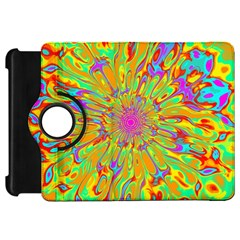 Magic Ripples Flower Power Mandala Neon Colored Kindle Fire Hd 7  by EDDArt