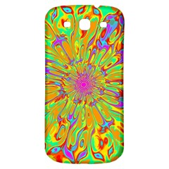 Magic Ripples Flower Power Mandala Neon Colored Samsung Galaxy S3 S Iii Classic Hardshell Back Case by EDDArt