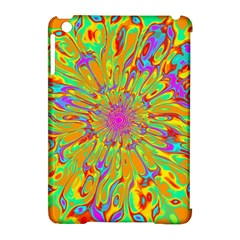 Magic Ripples Flower Power Mandala Neon Colored Apple Ipad Mini Hardshell Case (compatible With Smart Cover) by EDDArt