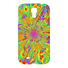 Magic Ripples Flower Power Mandala Neon Colored Samsung Galaxy S4 I9500/i9505 Hardshell Case by EDDArt