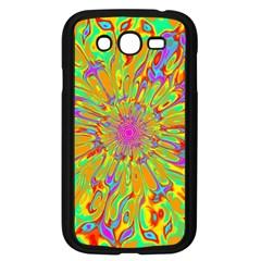 Magic Ripples Flower Power Mandala Neon Colored Samsung Galaxy Grand Duos I9082 Case (black) by EDDArt