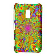 Magic Ripples Flower Power Mandala Neon Colored Nokia Lumia 620 by EDDArt
