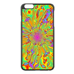 Magic Ripples Flower Power Mandala Neon Colored Apple Iphone 6 Plus/6s Plus Black Enamel Case by EDDArt