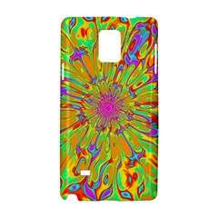 Magic Ripples Flower Power Mandala Neon Colored Samsung Galaxy Note 4 Hardshell Case by EDDArt