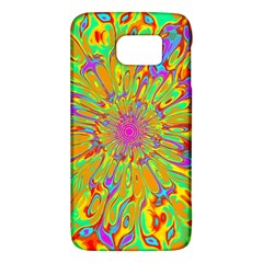 Magic Ripples Flower Power Mandala Neon Colored Galaxy S6 by EDDArt