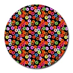 Colorful Yummy Donuts Pattern Round Mousepads by EDDArt