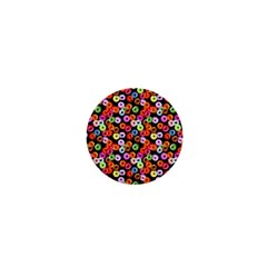 Colorful Yummy Donuts Pattern 1  Mini Buttons by EDDArt
