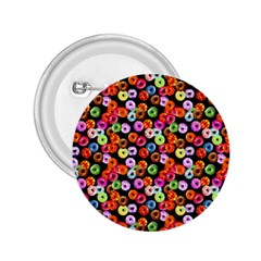 Colorful Yummy Donuts Pattern 2 25  Buttons by EDDArt