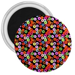 Colorful Yummy Donuts Pattern 3  Magnets by EDDArt