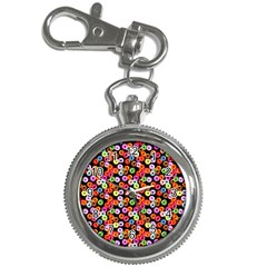 Colorful Yummy Donuts Pattern Key Chain Watches by EDDArt