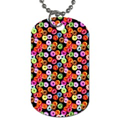 Colorful Yummy Donuts Pattern Dog Tag (two Sides) by EDDArt