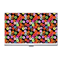 Colorful Yummy Donuts Pattern Business Card Holders by EDDArt