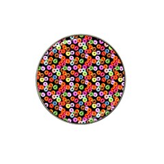 Colorful Yummy Donuts Pattern Hat Clip Ball Marker (4 Pack) by EDDArt