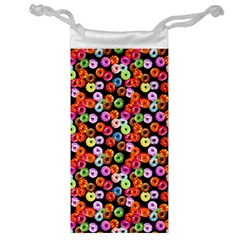 Colorful Yummy Donuts Pattern Jewelry Bag by EDDArt