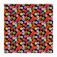 Colorful Yummy Donuts Pattern Medium Glasses Cloth by EDDArt
