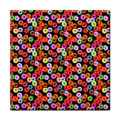 Colorful Yummy Donuts Pattern Face Towel by EDDArt