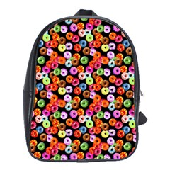 Colorful Yummy Donuts Pattern School Bags(large)  by EDDArt