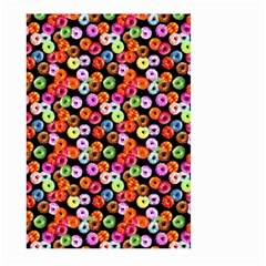Colorful Yummy Donuts Pattern Large Garden Flag (two Sides) by EDDArt
