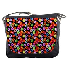 Colorful Yummy Donuts Pattern Messenger Bags by EDDArt