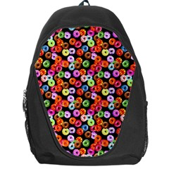 Colorful Yummy Donuts Pattern Backpack Bag by EDDArt